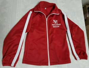 Red & White Tracksuit Jacket